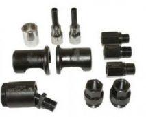 Zestaw adapterów wtryskiwaczy do młota bezwładnościowego 8 kg i siłowników hydraulicznych, 11 części