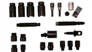 Zestaw powiększony adapterów wtryskiwaczy do młota bezwładnościowego 8 kg i siłowników hydraulicznych, 22 części