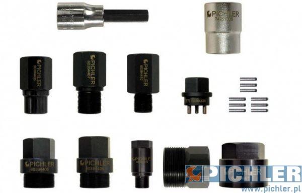 zdjęcia Zestaw adapterów do demontażu wtryskiwaczy, 12 części