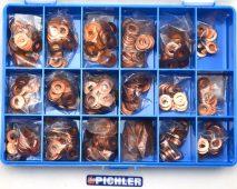 Zestaw podkładek wtryskiwaczy 15 modeli, 450 części
